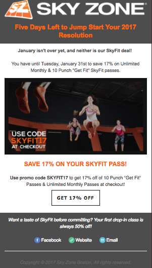 SkyFit 17% Off Deal