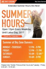 Summer Hours Email